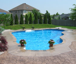 stamped pool deck