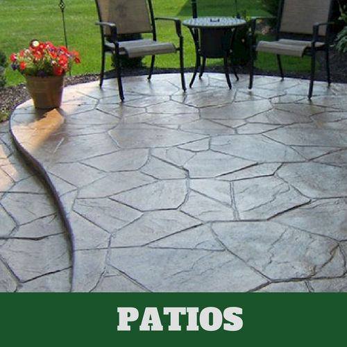 Residential patio in  Hartford, CT with a stamped finish.